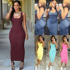 Womens Summer Bandage Bodycon Sleeveless Evening Party Cocktail Slim Maxi Dress