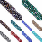 50/80pcs Bicone Lots of Faceted Glass Colorful Jewelry Making Spacer Loose Bead