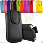 Magnetic Button Flip Pull Tab Leather Pouch Case Cover For Nokia 222