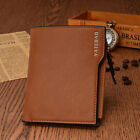 Mens Leather Credit Card Holder Wallet Bifold ID Cash Coin Purse Clutch Slim