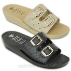 Ladies Mule Sandals Womens Slip On Slippers Open Toe Buckle Soft Comfortable New