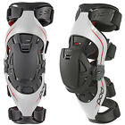NEW POD K4 MX DIRT BIKE OFFROAD ADULT KNEE BRACES PAIR GREY/RED ALL SIZES