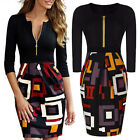 Elegant Sexy Women Business Wear To Work Cocktail Party Mini Pencil SHORT Dress