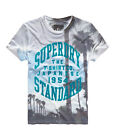 New Mens Superdry Haze Insta T-shirt Light Blue