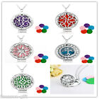 GIFT Womens Fashion Aromatherapy Essential Oil Round Diffuser Locket Necklace