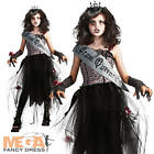 Goth Prom Queen Zombie Girls Fancy Dress Halloween Childs Kids Vampire Costume