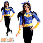 Deluxe Batgirl Girls Fancy Dress DC Comic Book Day Superhero Kids Childs Costume