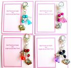 "Best Friends are Angels Bag Charm ""Best Friend"" Charm & Guardian Angel +Gift Tag"