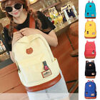 Girl Canvas Shoulder School Bag Bookbag Backpack Travel Satchel Rucksack Handbag