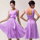 Plus Mini Women Evening Dress Formal Cocktail Wedding Ball Prom Bridesmaid Dress