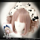 lolita fantasy chocolate sprinkle milk panda polka dot bow headband JI6195