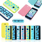 Flip Leather Hybrid Wallet Pouch Case Hard Cover Screen Protector For iPhone 5c