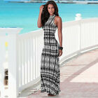 Sexy Women Summer Slim Long Maxi Floral Printed Evening Party Long Dress UR