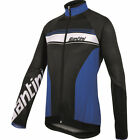 Fluke Long Sleeve Cycling Jersey - in Blue - Made in Italy by Santini