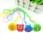 Baby Cute Plastic Dummy Pacifier Soother Nipple Toy Chain Clip Buckle Holder