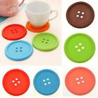 5 Colors Silicone Coffee Placemat Button Coaster Cup Mug Beverage Holder Mat s6