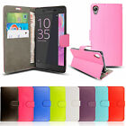 Premium Leather Wallet Book Flip Case Pouch For Sony xPeria Experia Mobile Phone