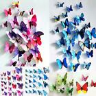 Room Interior Decoration 3D Butterflies Wall Stickers Art Mural Decal 12pc s5