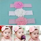 Baby Infant Girls Lace Flower Soft Hair Bands Hairband Headband Hair wear N4U8