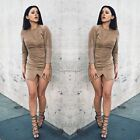 New Womens Casual Long Sleeve Evening Cocktail Party Mini Dress Bodycon Clubwear