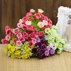 21 Heads Artificial Silk Fake Flowers Leaf Rose Wedding Floral Decor Bouquet