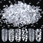 10ml Silver Ultrafine Glitter Powder Shimmer 1mm-3mm Mixed Sequins 3019-3024