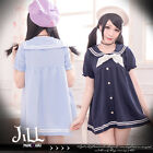japan lolita liz lisa love live sailor collar empire waist shift dress 16933