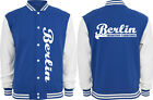 4-014 Baseballjacke Sweatjacke Collegejack royalblue berlin Tradition verbindet