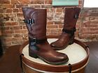 Clarks Artisan Brown Leather Buckle Detail Motorcycle Boots NEW Volara Melody