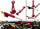Steering Stabilizer Damper Bracket Full Set Red Fit 13-16 YAMAHA MT-09 FZ-09