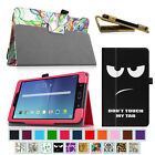 Folio Case Vegan Leather Stand Cover for Samsung Galaxy Tab Tablet