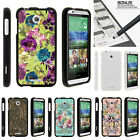 For HTC Desire 510 Case Hard Snap On 2 Piece Slim Shell Butterfly Flowers