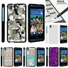 For HTC Desire 626 & 626s Case Hard Snap On 2 Piece Slim Shell Swamp Camouflage