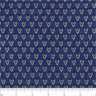SUBTLE CHARM BLUE MEDALLION CHOICE FABRIC QUILT SEWING CRAFT FREE OZ POST **