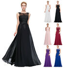 Womens Long Chiffon Lace Evening Ball Party Gown Formal Bridesmaid Prom Dress