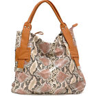 New Women Snake Leather Hobo Tote Bag Handbag Shoulder Bag Purse
