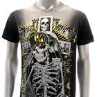 m149b Minute Mirth T-shirt Sz S M L XL Tattoo Skull Cross Skateboard Street Punk