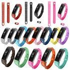 Dots Sport Silicone Rubber Replacement Wrist Band Strap For Fitbit Alta S / L