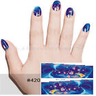 1X 3D Beauty Nail Sticker Water Transfer Stickers Decoration Peacock Decals Tips
