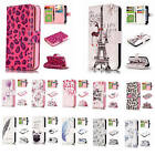 For iPhone 5 5S SE Embossment Effect 9 ID Card Slots Leather Wallet Case Cover