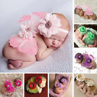 Внешний вид - Newborn Baby Girl Flower Headband Butterfly Wing Photo Photography props Outfits