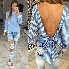 New Arrival Women Blouse Shirt Long Sleeve Backless Casual Blouse Fashion Tops