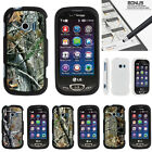 lg extravert cases - For LG Extravert 2 VN280 Case Hard Snap On 2 Piece Slim Shell Tree Camouflage