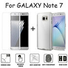 Slim TPU Case Cover + Tempered Glass Screen Protector For Samsung Galaxy Note 7