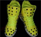 L Mens New Fashion Spike DJ Metal Evening Club Casual Lace Up High Top Shoes Hot