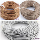 Genuine 1.5mm Real Round Leather Cord Metallic For DIY Jewelry 5/50/100 Meters