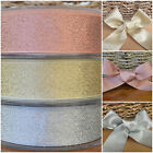 Berisfords Christmas Lame Ribbon gold or silver 3 widths sold per 2 metres