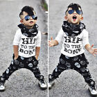 2-7T Baby Kids Boys Casual Long Sleeve Tops+ Harem Pants Trousers Outfits Sets