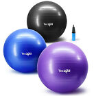 Yes4all Yoga Ball w Air Pump Anti Burst Exercise Workout Stability 55 65 75 cm image