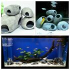1pc Cichlid Stone Ceramic Aquarium Rock Cave Decoration Fish Tank Pond Ornament